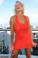 Molly MILF. Orange Dress Pt1 Free Pic 8
