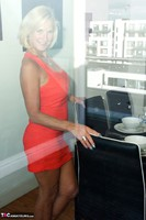 Molly MILF. Orange Dress Pt1 Free Pic 9