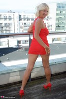 Molly MILF. Orange Dress Pt1 Free Pic 10