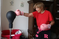Abby Roberts. Boxing & Strip In The Garden Free Pic 1