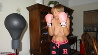 Abby Roberts. Boxing & Strip In The Garden Free Pic 3