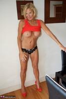Molly MILF. Orange Dress Pt2 Free Pic 16