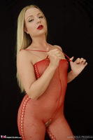 Luscious Models. Lotte Petite, Sexy Blonde In A Red Bodystocking Pt1 Free Pic 6