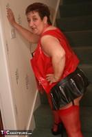 Kinky Carol. Red Stockings & Black Leather Pt1 Free Pic 2