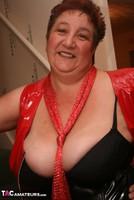 Kinky Carol. Red Stockings & Black Leather Pt1 Free Pic 5