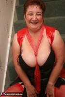 Kinky Carol. Red Stockings & Black Leather Pt1 Free Pic 6