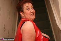 Kinky Carol. Red Stockings & Black Leather Pt1 Free Pic 8