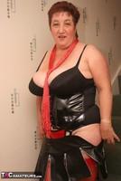 Kinky Carol. Red Stockings & Black Leather Pt1 Free Pic 16