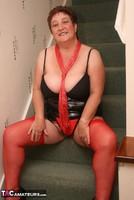 Kinky Carol. Red Stockings & Black Leather Pt1 Free Pic 19