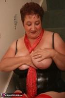 Kinky Carol. Red Stockings & Black Leather Pt1 Free Pic 20
