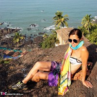 Diana Ananta. Strip On The Cliff Free Pic 4