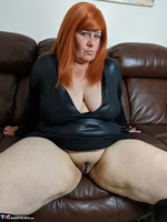 Mrs Leather. Leather Dress & Boots On The Sofa Free Pic 11