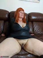Mrs Leather. Leather Dress & Boots On The Sofa Free Pic 12
