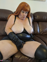 Mrs Leather. Undo My Lerather Zipped Skirt Free Pic 15