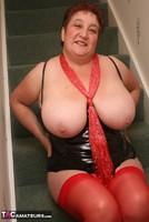Kinky Carol. Red Stockings & Black Leather Pt2 Free Pic 1