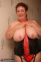 Kinky Carol. Red Stockings & Black Leather Pt2 Free Pic 3