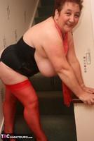 Kinky Carol. Red Stockings & Black Leather Pt2 Free Pic 4
