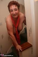 Kinky Carol. Red Stockings & Black Leather Pt2 Free Pic 5