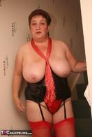 Kinky Carol. Red Stockings & Black Leather Pt2 Free Pic 7