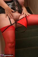 Kinky Carol. Red Stockings & Black Leather Pt2 Free Pic 12
