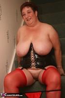 Kinky Carol. Red Stockings & Black Leather Pt2 Free Pic 14