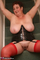 Kinky Carol. Red Stockings & Black Leather Pt2 Free Pic 15
