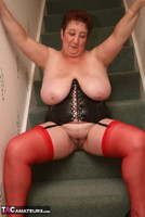 Kinky Carol. Red Stockings & Black Leather Pt2 Free Pic 17