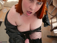 Mrs Leather. Hand & Blowjob Pt1 Free Pic 9