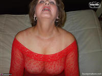 Busty Bliss. Red Mesh & Hot Sex Free Pic 1
