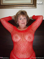 Busty Bliss. Red Mesh & Hot Sex Free Pic 3