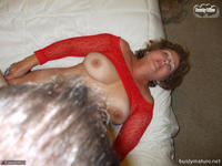 Busty Bliss. Red Mesh & Hot Sex Free Pic 8