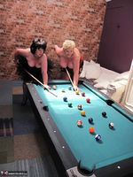 Kims Amateurs. Kim, Juicy Ginger & Candy At The Pool Table Free Pic 1
