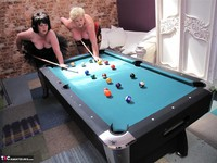 Kims Amateurs. Kim, Juicy Ginger & Candy At The Pool Table Free Pic 6