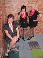 Kims Amateurs. Kim, Juicy Ginger & Candy At The Pool Table Free Pic 11