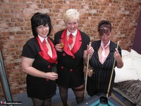 Kims Amateurs. Kim, Juicy Ginger & Candy At The Pool Table Free Pic 12