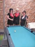 Kims Amateurs. Kim, Juicy Ginger & Candy At The Pool Table Free Pic 13
