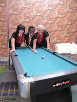Kims Amateurs. Kim, Juicy Ginger & Candy At The Pool Table Free Pic 14