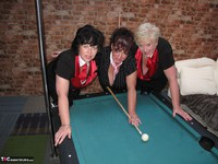 Kims Amateurs. Kim, Juicy Ginger & Candy At The Pool Table Free Pic 15