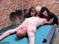 Kims Amateurs. Kim, Juicy Ginger & Candy At The Pool Table Free Pic 17