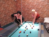Kims Amateurs. Kim, Juicy Ginger & Candy At The Pool Table Free Pic 19