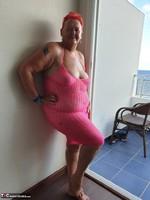 ValGasmic Exposed. Pink Dress Free Pic 1