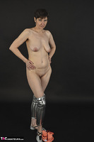 Hot Milf. Shiny Silver Leggings, Foil Packed Milf Free Pic 20