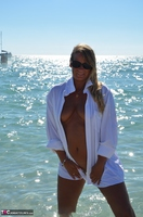 Sweet Susi. Wet T-Shirt On The Public Beach Free Pic 6