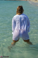 Sweet Susi. Wet T-Shirt On The Public Beach Free Pic 13