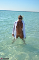 Sweet Susi. Wet T-Shirt On The Public Beach Free Pic 19