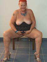 ValGasmic Exposed. Silver Shoes Free Pic 12