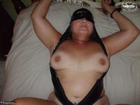 Busty Bliss. Latex Blindfold Cum Party Free Pic 12