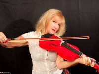 Veronique. Orchestra Pantyhose Strip Free Pic 2