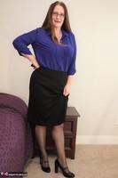 Missy. Black thigh high stockings Free Pic 1