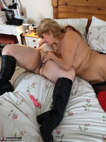 Mrs Leather. Girl On Girl Action Free Pic 11
